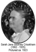 Sarah Stickney Crookham ca. 1923